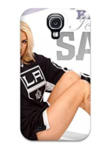 Galaxy S4 Case Cover - Slim Fit Tpu Protector Shock Absorbent Case (los-angeles-kings )