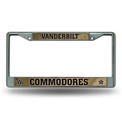 Price comparison product image NCAA Vanderbilt Commodores Chrome License Plate Frame