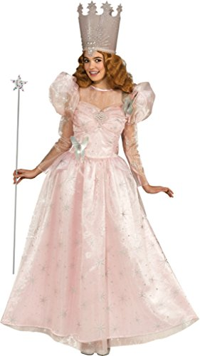 Rubies Womens Cute Pink Wiz Of Oz Glinda Costume Halloween Themed Fancy Dress, One Size (Up To 8)