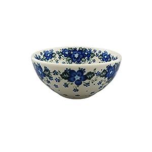 Boleslawiec Style Pottery Hand Painted Polish Ceramic Venus Bowl (16) 072-U-420