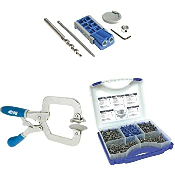 Kreg R3 Jr. Pocket Hole Jig System with Face Clamp and 5 Size Screw Kit