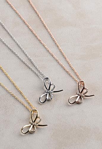 Diamond Dragonfly Necklace, Diamond Necklace for Women, Silver Diamond Necklace, Little Dragonfly Necklace, Diamond Dragonfly Pendant