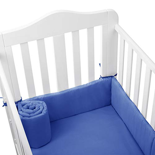 bkb Tailored Baby Cradle Bumpers, Royal Blue, 15