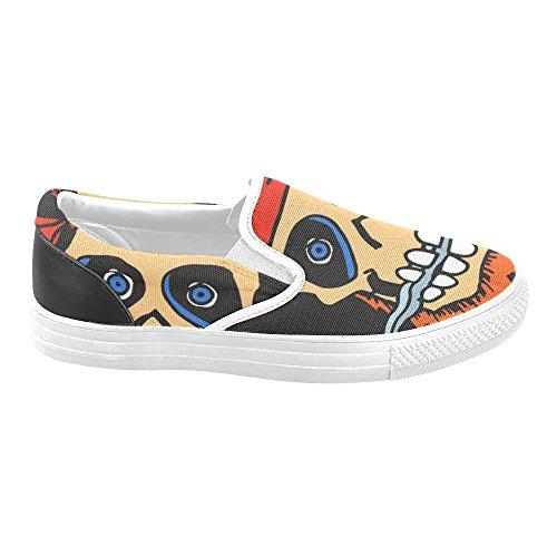 Zapatos De Lona Para Mujer D-story Custom Pirate Skull Zapatos De Moda Sneaker