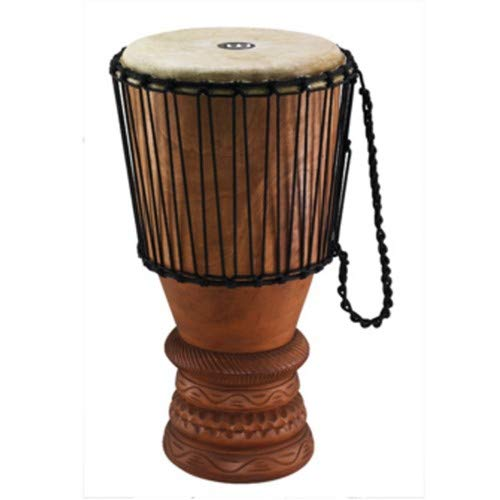 Doumbek Wood - Meinl Percussion ABGB-L Large 12-Inch African Wood Bougarabou, Brown