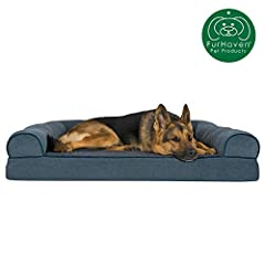 Finally, a solution for your arthritic pet's pain! This Furhaven Orthopedic Faux Fleece & Chenille Soft Woven Traditional Sofa-Style Living Room Couch Pet Dog Bed has a soft, faux fleece sleep surface providing your pet comfort while the ...