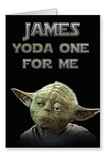 Personalised Star Wars Valentineu0027s Day Card   Yoda One For Me