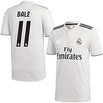 check out aca5e 4dbc8 aaDDa Bale Printed Realmadrid Home Jersey with Shorts 2018/19