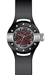 Invicta Men's S1 Rally Black Polyurethane Band Steel Case Automatic Red Dial Analog Watch 20102