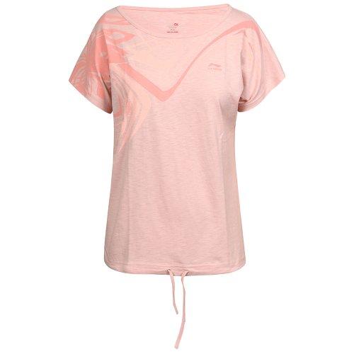 Li Ning T- Shirt A204 - Camiseta de fitness para mujer rosa