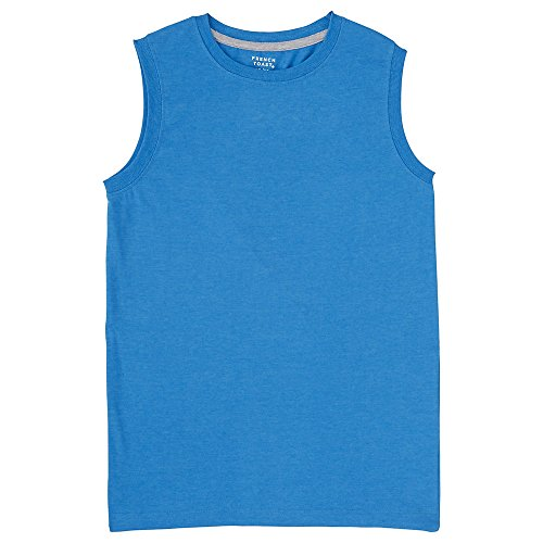 French Toast Men's Muscle Tee, Methyl Blue Heather, X-Large