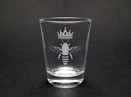 Queen Bee Shot Glass - Bee Shot Glass- Gift For Her (Shot Princess Glass)