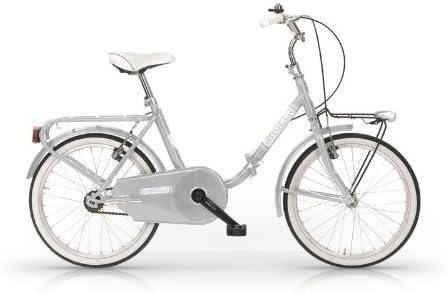 MBM Angela - Bicicleta plegable 24, estilo Graziella plateado ...