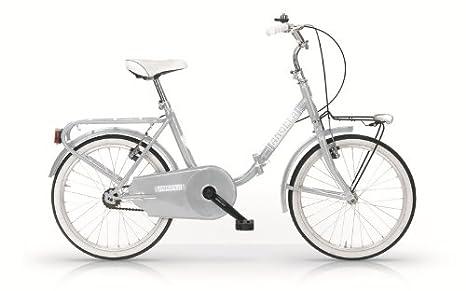 MBM Angela - Bicicleta plegable 24, estilo Graziella plateado plateado: Amazon.es: Deportes y aire libre