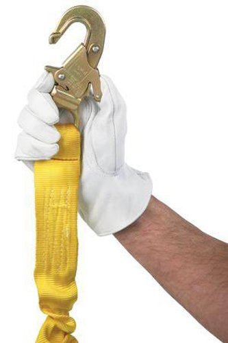 3M DBI-SALA 1231380 Web Rebar Positioning Lanyard, 18'' with Aluminum Rebar Hook At Center, Snap Hooks At Leg Ends, Yellow/Gold