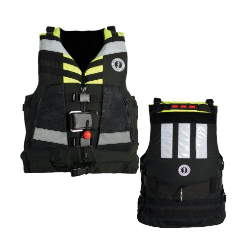 Mustang Universal Swift Water Rescue Vest - Fluorescent Yellow-Green/Black by Mustang Survival
