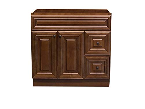 New Maple walnut Single-sink Bathroom Vanity Base Cabinet 36