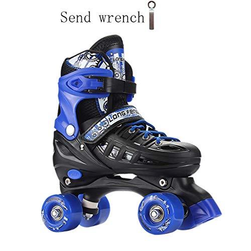 ブロック親密な一瞬LIUXUEPING スケート、 プーリー靴のダブル列、 子供の4ラウンドのローラースケート、 初心者の四輪のローラースケート