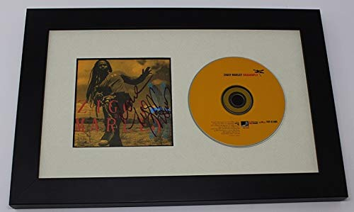 Ziggy Marley Dragonfly Signed Autographed Cd Cover Compact Disc Framed Display Loa