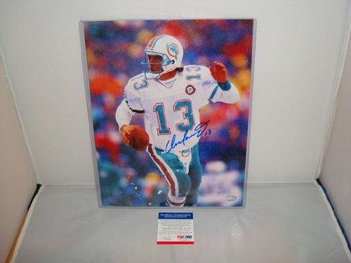 Dan Marino Signed 11 x 14 Photograph, Miami Dolphins, - Marino Photograph Dan Signed