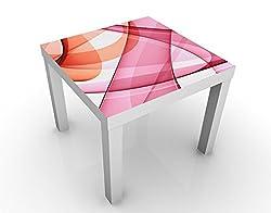 Apalis Tavolino Design Miracle Structure 55x55x45cm, Tischfarbe:Weiss;Größe:55 x 55 x 45cm