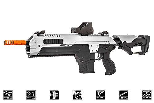 CSI S.T.A.R XR5 Advanced Main Battle Rifle M4 Carbine AEG Airsoft Gun (Black/White)