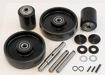 Complete Wheel Kit for Manual Pallet Jack - Fits Lift Rite (Big Joe), Model # LRP5000