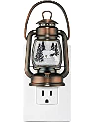 Bath and Body Works Wallflower Plug In W 24/7 Light Up Lantern W Winter Scene and Momma and Baby Bear