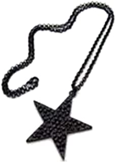 Minzhi Black Personalized Star Neck Pendant Necklace Alloy Sweater Chain Decorations Jewelry Accessories