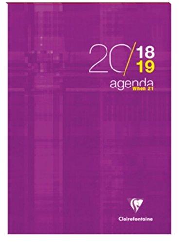 WHEN 21 2018//2019 Agenda scolastica 21 X 29.7-112 pagine colori assortiti Clairefontaine