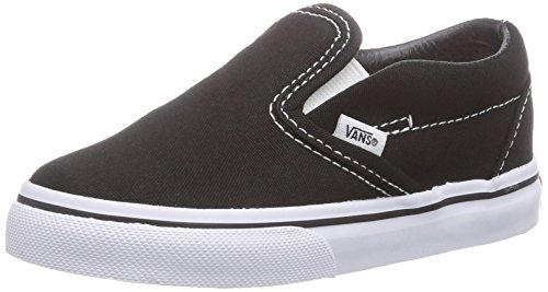 Vans Unisex Baby Classic Slip-On - Black - 4 Infant - Baby Sneakers Vans