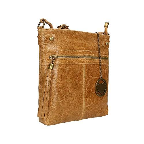 Chicca A Borsetta Cuoio Spalla Bag 25x24x5 In Pelle Borse Cm Italy Made wRx1Rq4