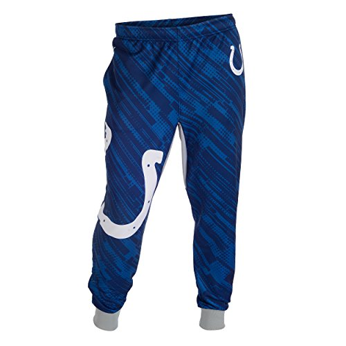 Indianapolis Colts NFL Football Team Mens Cuffed Jogger Pants (Indianapolis Colts, Large)