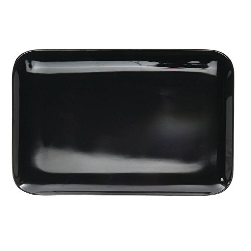 Serving Tray Display Tray Low Profile Black Melamine Plastic - 13 1/4