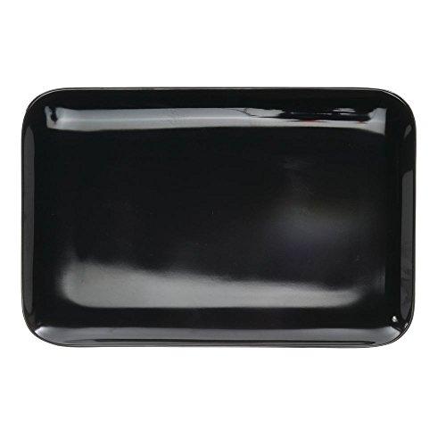 Melamine Tray Display - Serving Tray Display Tray Low Profile Black Melamine Plastic - 13 1/4
