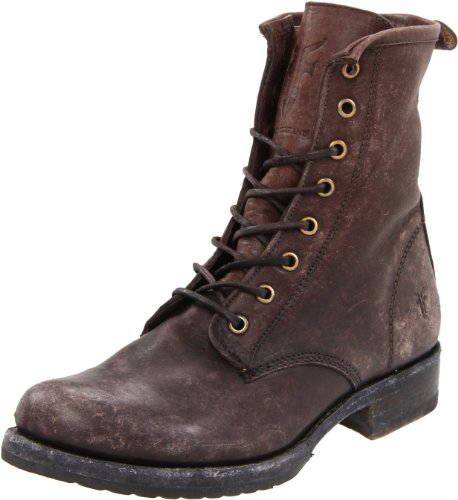Combat Brown Stone Women's Washed Boot FRYE Dark Veronica 76272 wUqOHxa