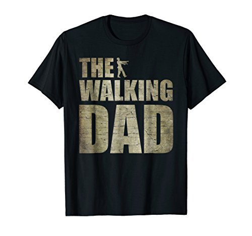 Walking Dad Shirt Zombie Men Father's Day Tee ()