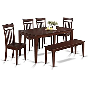 Amazon East West Furniture CANO-OAK-W -Piece Dining Table