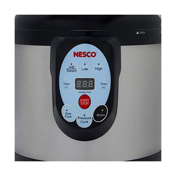 NESCO NPC-9 Smart Pressure Canner and Cooker, 9.5 quart, Stainless Steel 3