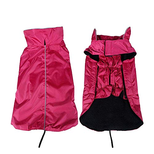 RSHSJCZZY Pet Windproof Waterproof Coats Reversible Reflective Soft Costumes Dog Raincoat]()