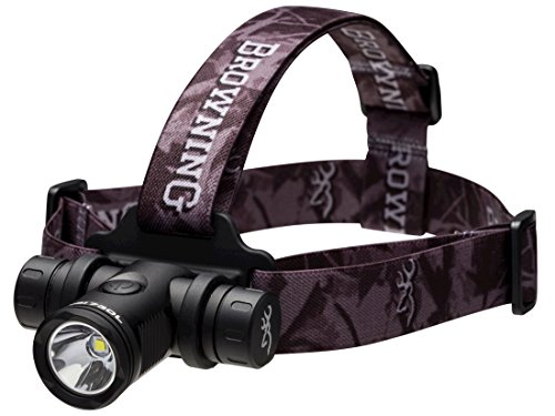 (Browning Blackout Headlamp LED with 2 CR123A Batteries Aluminum Black)