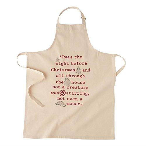 Applique Apron (Mudpie White Reindeer Christmas Applique Apron)