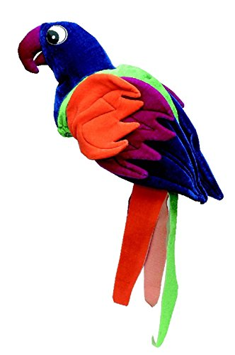 Jacobson Hat Company Plush Tropical Parrot Macaw Colored Bird Novelty Hat