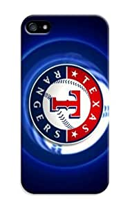 Case For Iphone 6 Plus 5.5 Inch Cover Plastic Protective Skin Shell - Customizable Baseball Texas Rangers