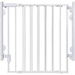 "Safety 1st Hassle Free Ready to Install Everywhere Gate, White, Fits Space between 29"" and 42"" Wide"