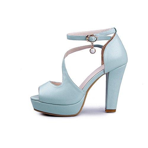 Adee Azul Sandalias para de vestir mujer qdqXawr