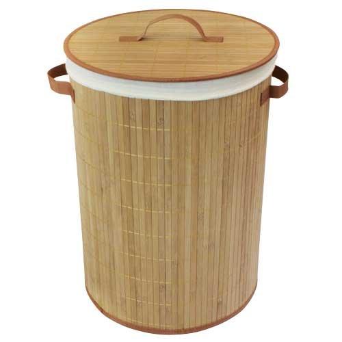 Jvl cesto redondo de bamb para ropa sucia - Cesto ropa sucia amazon ...