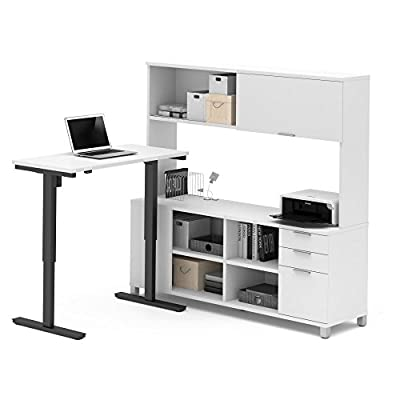 BESTAR Pro-Linea L-Desk Including Electric Height Adjustable Table