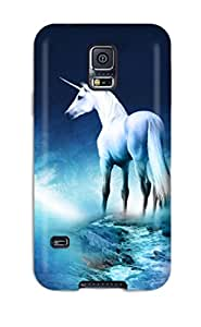 DanRobertse VTgdtIW1795lSIQw Case For Galaxy S5 With Nice Unicorn Horse Magical Animal Moon Appearance