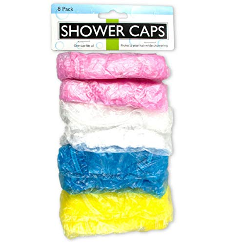 Shower & Hair Care Caps Set 24/Pack (9 Pack) by bath and body (Image #1)